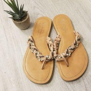 Jessica Simpson Rhinestone sandals sz 8.5